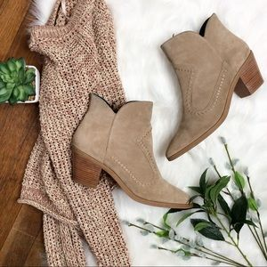 Rebecca Minkoff Lulu Booties Taupe Suede Size 9.5
